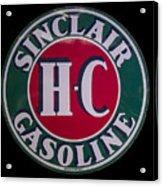 Sinclair Gasoline Porcelain Sign Acrylic Print