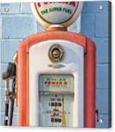 Sinclair Power-x Gas Pump Acrylic Print