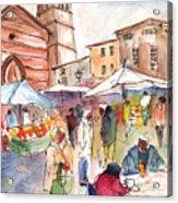Sineu Market In Majorca 01 Acrylic Print