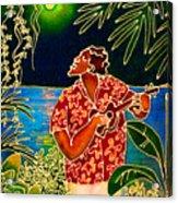 Sing Hanalei Moon Acrylic Print by Angela Treat Lyon