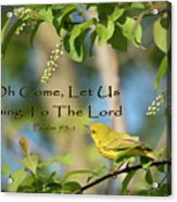 Sing To The Lord Acrylic Print