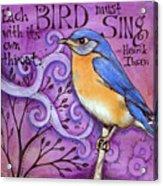 Sing Acrylic Print