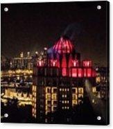 Singapore At Night Acrylic Print