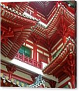 Singapore Buddha Tooth Temple Acrylic Print