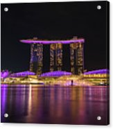 Singapore In Purple 1 Acrylic Print
