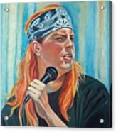 Singer For The Band Acrylic Print