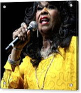 Singer Shirley Alston Reeves  Acrylic Print