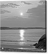 Singing Beach Rocky Sunrise Manchester By The Sea Ma Sand Black And White Acrylic Print