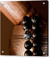 Singing Bowl And Mala In Color Acrylic Print