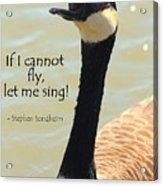 Singing Goose Acrylic Print