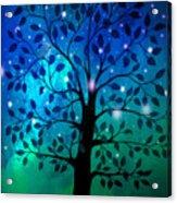 Singing In The Aurora Tree Acrylic Print