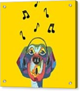 Singing The Blues - Dog Humor Acrylic Print