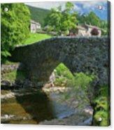 Single Arch Stone Bridge - P4a16018 Acrylic Print