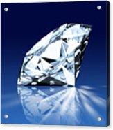 Single Blue Diamond Acrylic Print