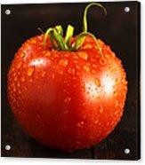 Single Fresh Tomato With Dew Drops Acrylic Print