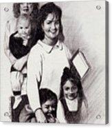 Single Mothers Acrylic Print