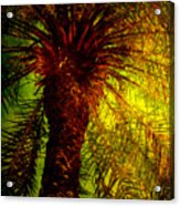 Single Palm Acrylic Print