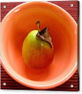Single Pear In A Bowl Too Acrylic Print