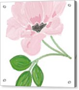 Single Pink Flower Acrylic Print