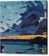Singleton Sunset Stratocumulus Acrylic Print