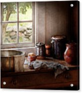 Sink - The Morning Chores Acrylic Print by Mike Savad