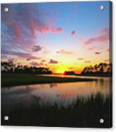 Sink Creek Sunset Acrylic Print
