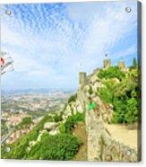 Sintra Castle Aerial Acrylic Print