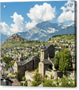 Sion Old Town In Switzerland Acrylic Print