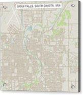 Sioux Falls South Dakota Us City Street Map Acrylic Print