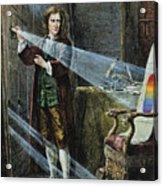 Sir Isaac Newton Acrylic Print