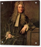 Sir Isaac Newton  Acrylic Print by Sir Godfrey Kneller