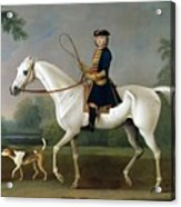 Sir Roger Burgoyne Riding 'badger' Acrylic Print