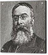 Sir Walter Besant, 1836 -1901. English Acrylic Print