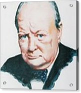 Sir Winston Churchill Acrylic Print