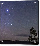 Sirius & Canis Major Rising In New Acrylic Print