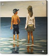 Sister And Brother Acrylic Print