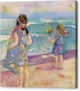 Sisters By The Sea Acrylic Print