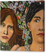 Sisters In Art Acrylic Print