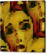Sisters In Mosaik Acrylic Print