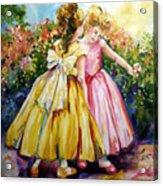 Sisters Secrets Acrylic Print