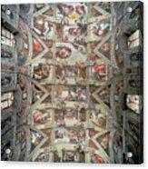 Sistine Chapel Ceiling Acrylic Print