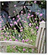 Sitting Amongst A Wildflower Garden Acrylic Print