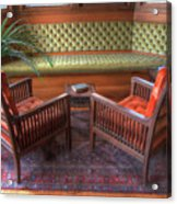 Sitting Area At Frank Lloyd Wright Home And Studio Acrylic Print