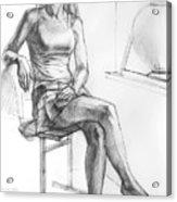 Sitting Ballerina Acrylic Print