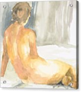 Sitting Figure Acrylic Print