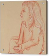 Sitting Girl Acrylic Print