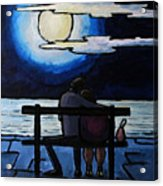 Sitting In The Moonlight. Acrylic Print
