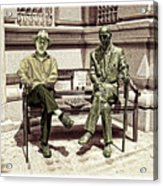 Sitting Next To A Statue Of Jan Karski Legendary Polish Underground Courier    Acrylic Print