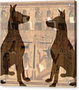 Sitting Proud Dogs And Ancient Egypt Acrylic Print
