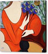 Sitting Women Acrylic Print